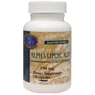 Nature's Purest Alpha Lipoic Acid (Thioctic Acid or ALA) 300mg - 180 Capsules